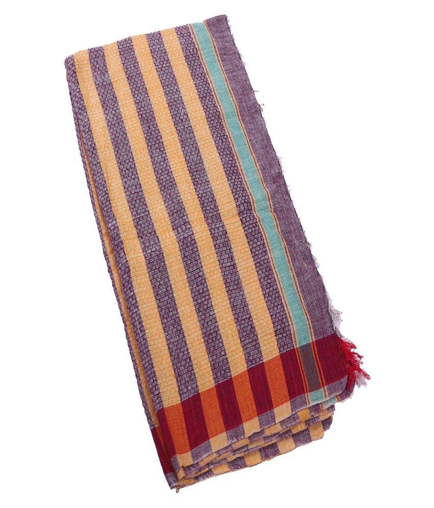 Bovzen Single Cotton Bath Towel Yellow