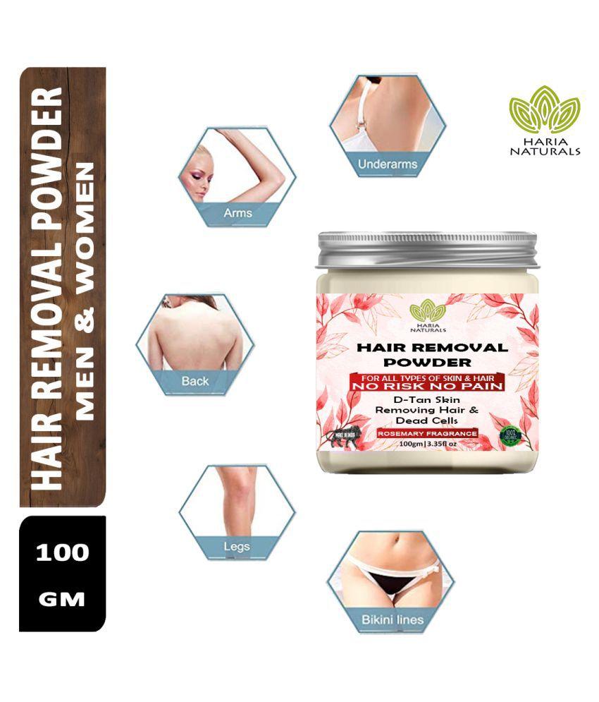 Haria Naturals Hair Removal Powder For Underarms, Hand, Hair Removal Powder Legs & Bikini Line  (Rosemary Fragrance) 100 g