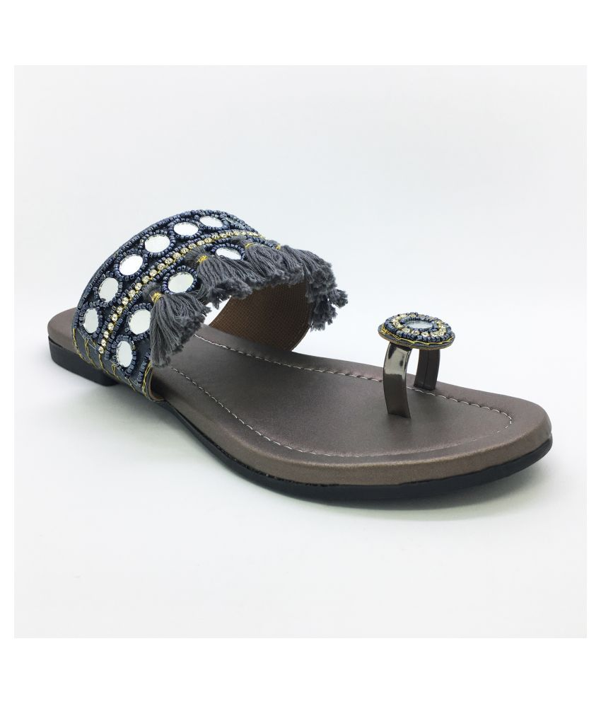 WALK N STYLE COLLECTION Gray Flats