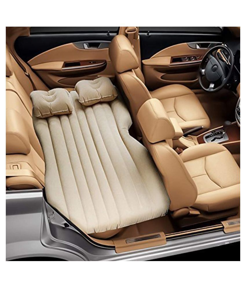 intresting Car Travel Inflatable Sofa Mattress Air Bed Cushion Camping Bed Rear Seat With Pillow And Pump
