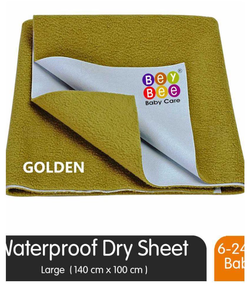 Beybee Gold Laminated Waterproof Sheet ( 140 cm × 100 cm - 1 pcs )