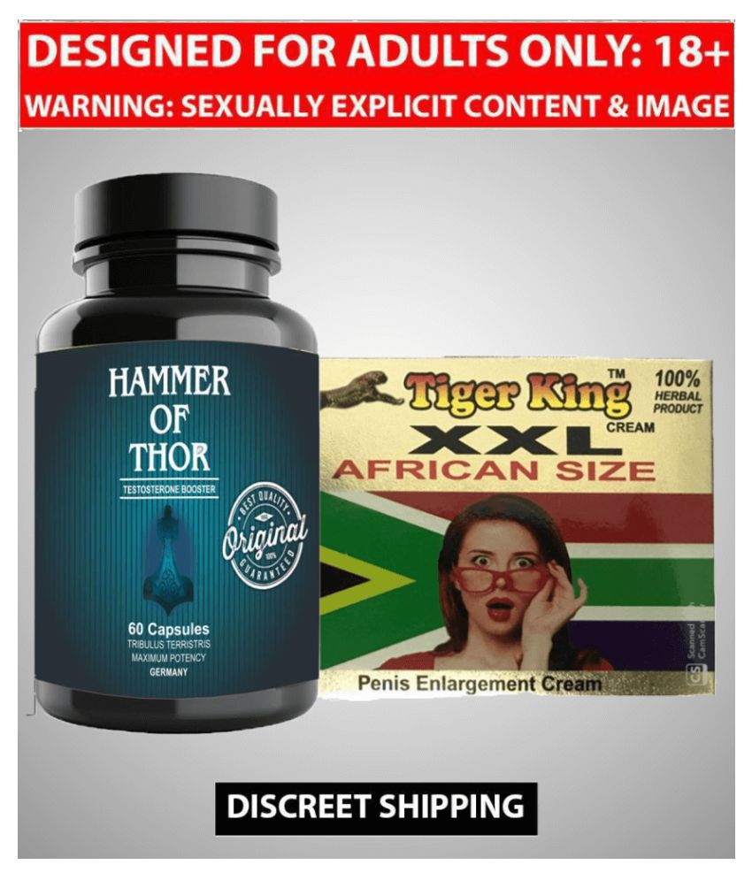 Kamveda Hammer Of Thor Male Supplement 60 Capsules & XXL Cream For Men