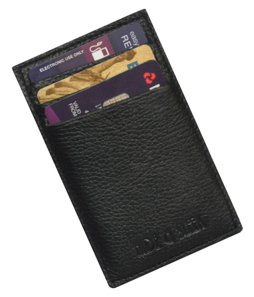 Hide&Sleek Genuine Leather Mini 4 Card Holder