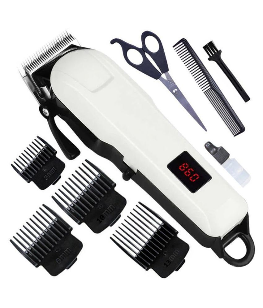SW Professional Rechargeable Electric Haircut Machine LCD Display Hair Clipper T Casual Gift Set
