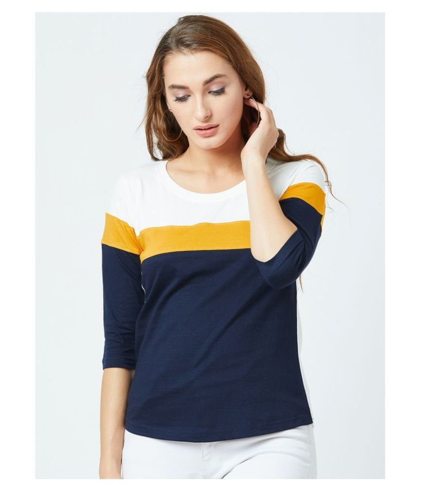 fashtantic Cotton Multi Color T-Shirts
