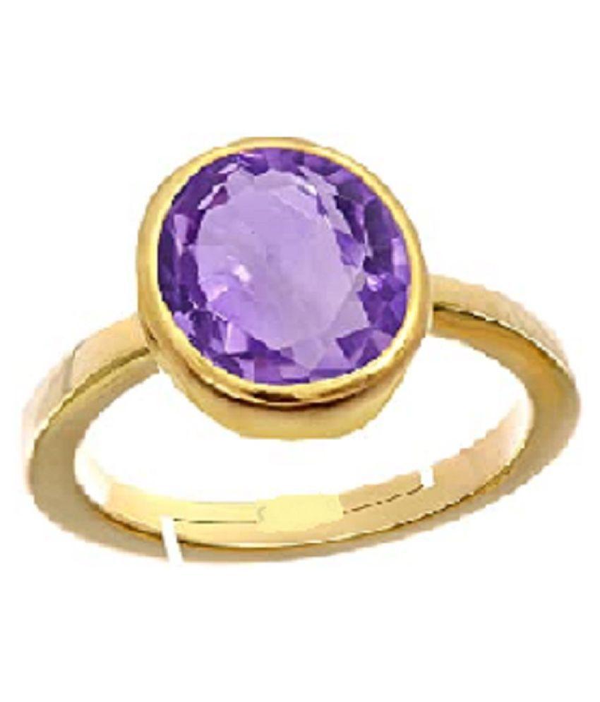6 carat pure Amethyst(Jamuniya) Gold Plated  Ring for women byRatan Bazaar \n