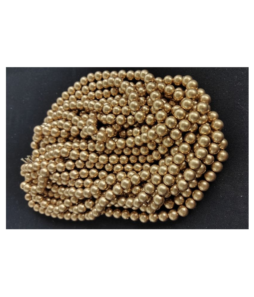 6mm 500pcs Round Gold Beads for Embroidery & Decoration