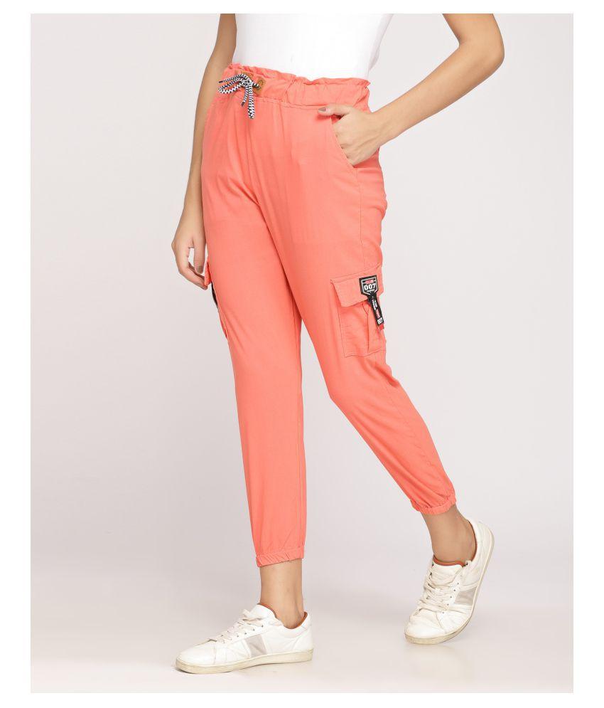 Moshe Cotton Lycra Jeans - Orange