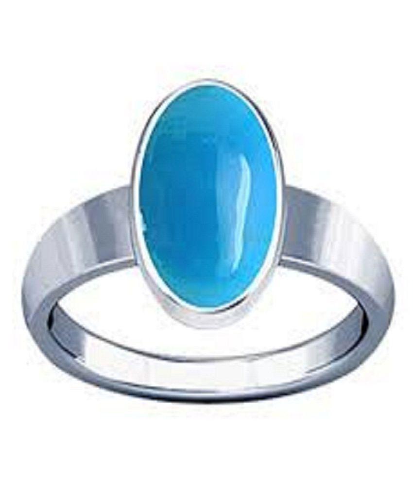 Natural Lab Certified 7 carat 100% Original Turquoise(Firoza)Ring  for unisex by Ratan Bazaar\n