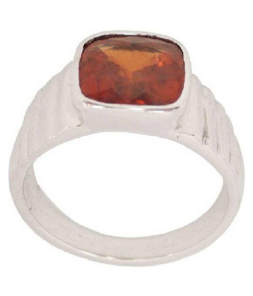 Natural Hessonite 3.25 Carat  Silver Ring   by Ratan Bazaar\n
