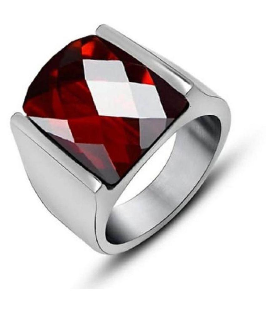 Silver 4.5 Carat  Hessonite(Gomed)Ring  by Ratan Bazaar