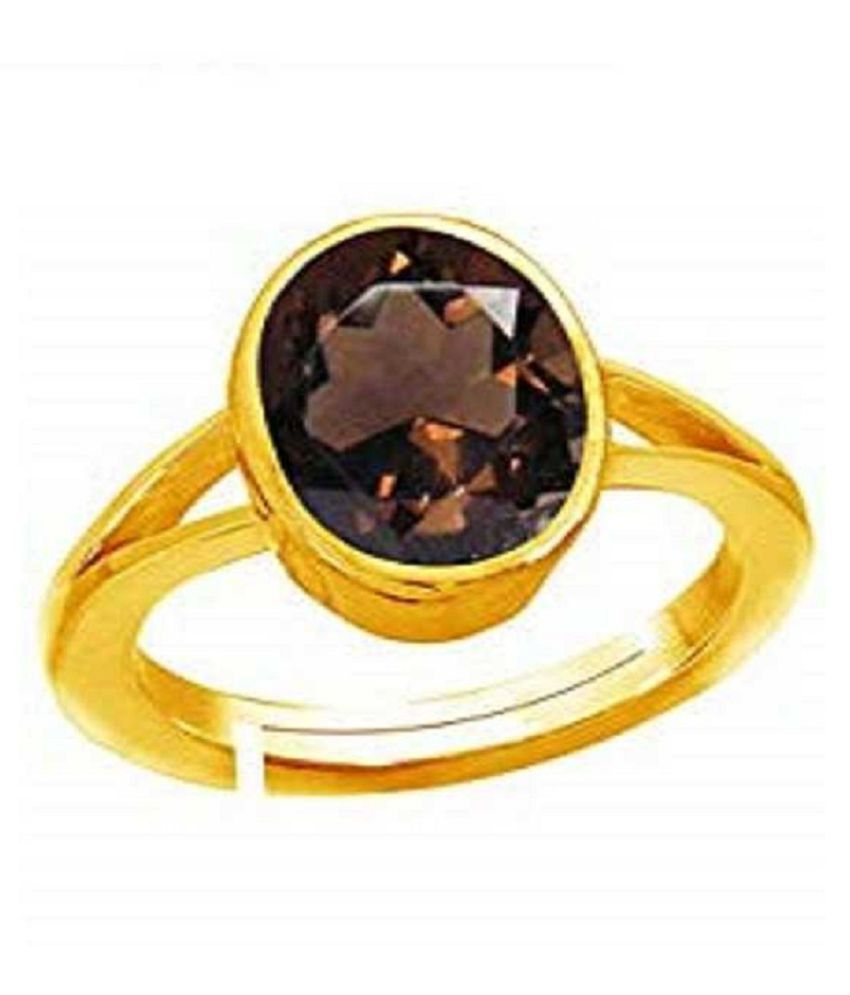 100% Natural 9 carat Hessonite   Gold Plated Ring  by Ratan Bazaar\n