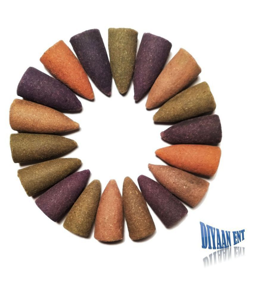 DIYAAN ENT SMOKE BACKFLOW CONE Multicolour Wood Smoke Backflow - Pack of 30
