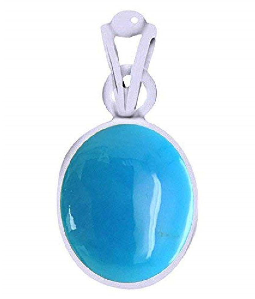 Ratan Bazaar  - Firoza( Turquoise)  Stone Pendant 10.25 Ratti Natural & Lab Certified Stone Turquoise Pendant For Men & Women
