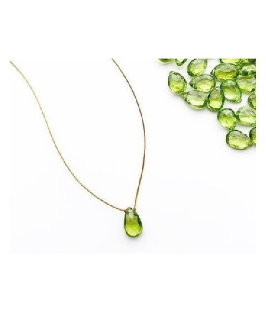 Peridot Pendant 10 carat Round Cut Moti Locket without chain by Ratan Bazaar
