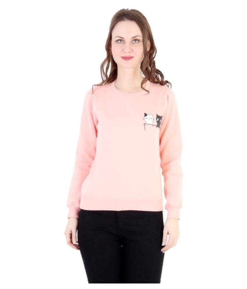 The Bonte Poly Cotton Peach Non Hooded Sweatshirt