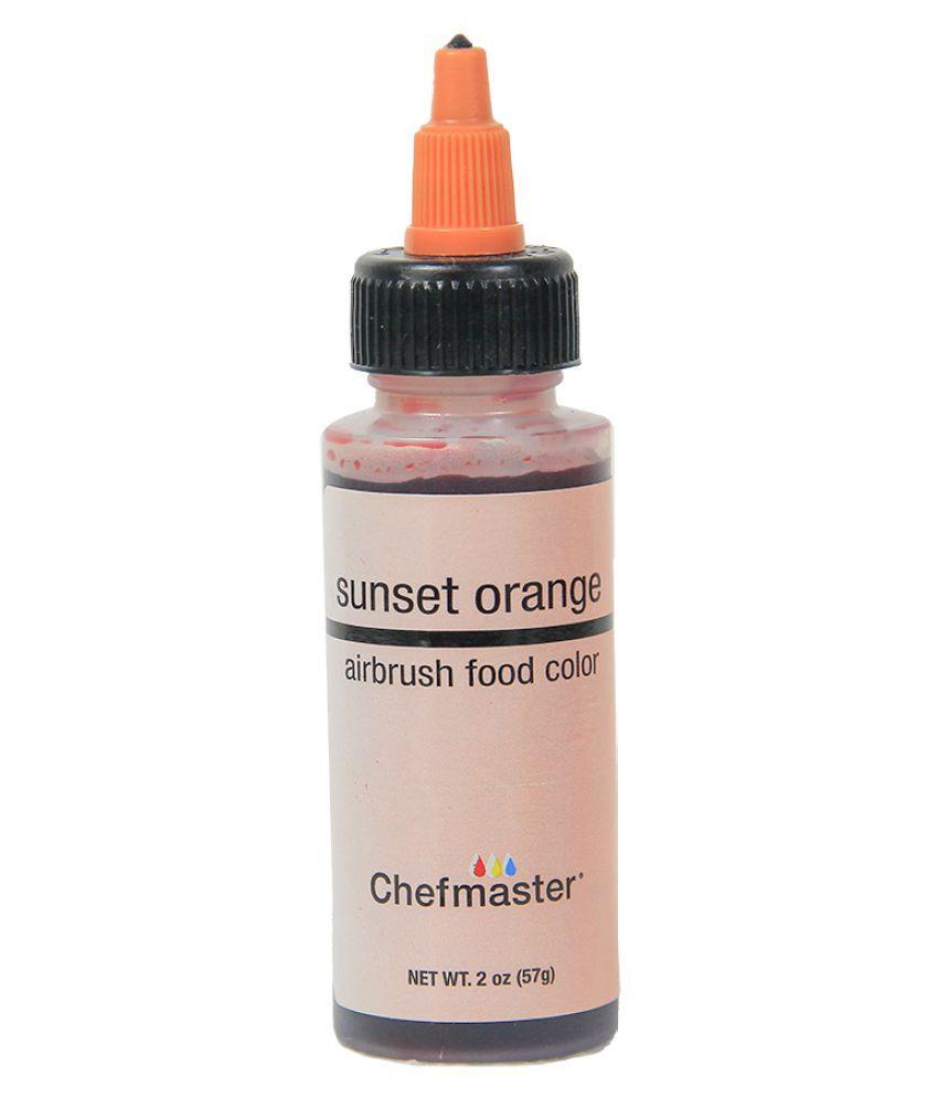 Chefmaster Airbrush Food Colour (Sunset Orange), 57 g