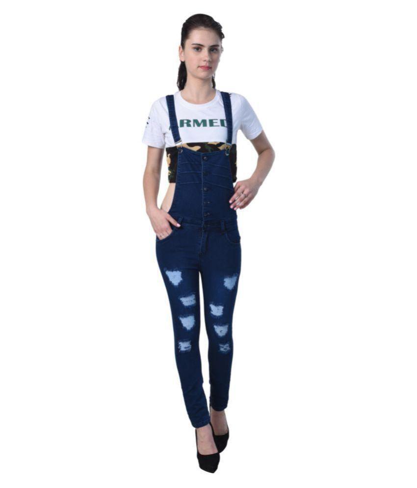 Essence Denim Jeans Dungarees - Blue