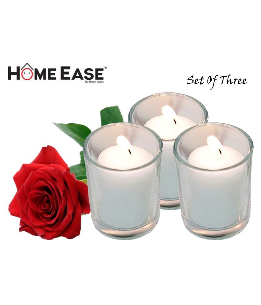 Harshpet White Jar Candle - Pack of 3