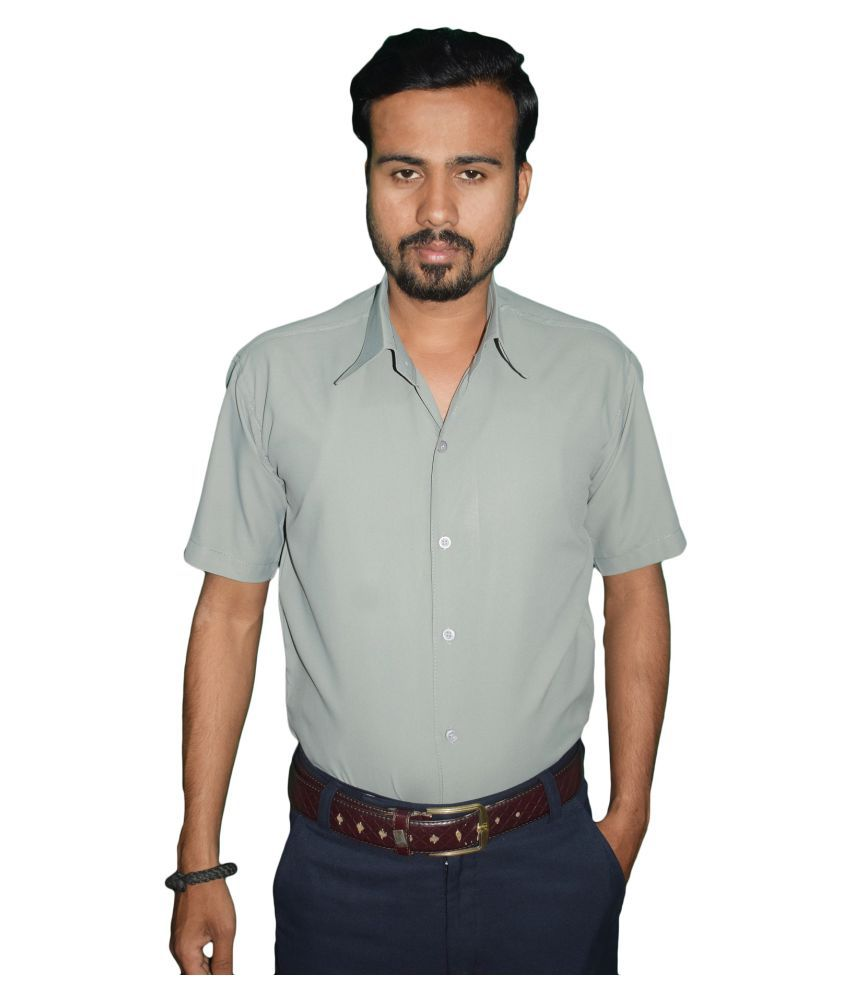 KMP Cotton Blend Grey Shirt