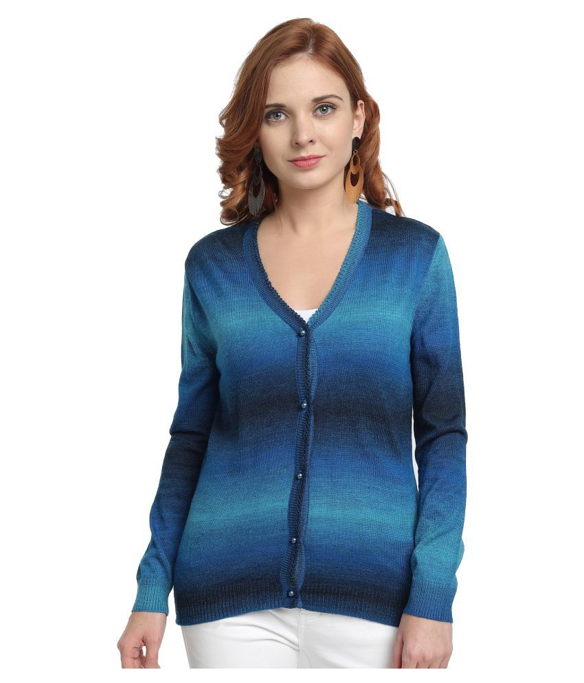 Wool Trees Acro Wool Blue Cardigans Dress
