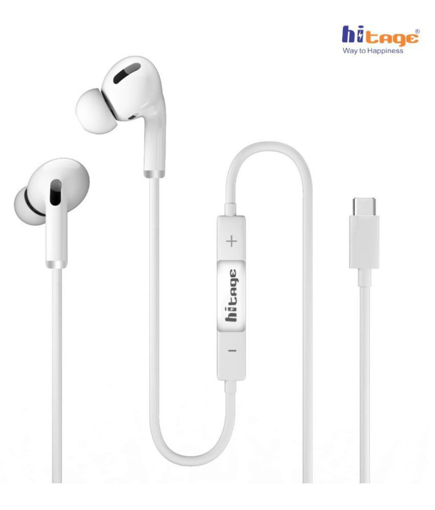 hitage HP687 Pro Type C GREAT SOUND QUALIT In Ear Wired With Mic Headphones/Earphones