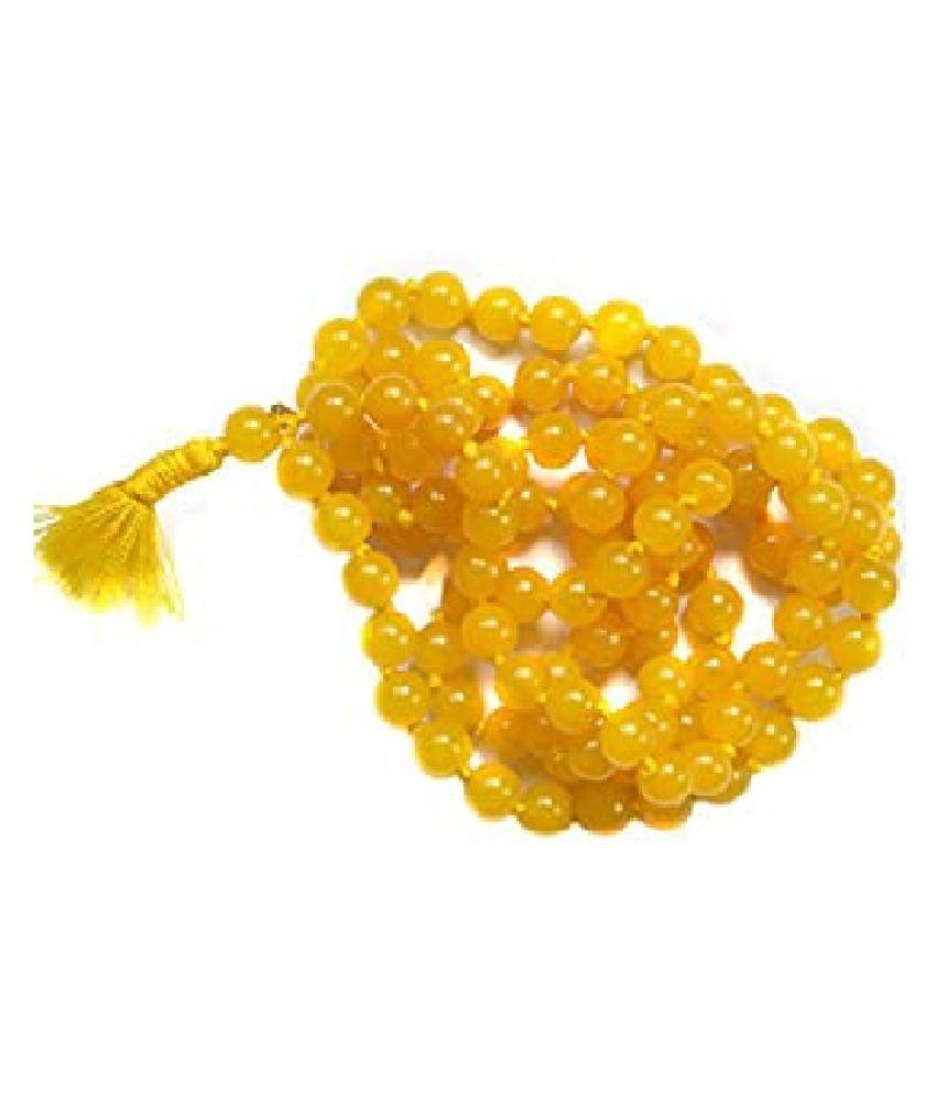 Precious Gemstone Beaded String Necklace Mala for Women/Girls by Kundli Gems
