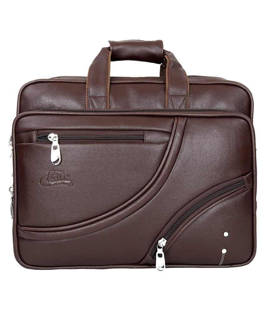 Leather World Laptop Brown P.U. Office Bag