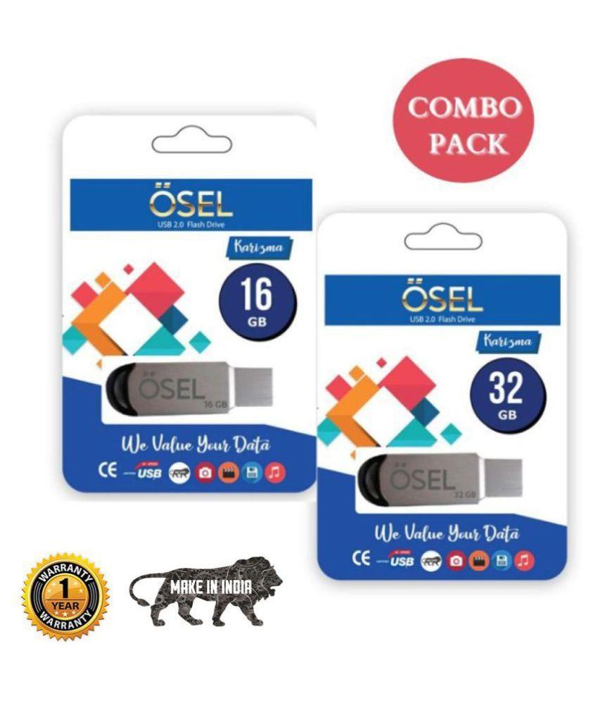 OSEL 32 GB  amp; 16 GB Pendrive 2.0 USB  Combo Pack