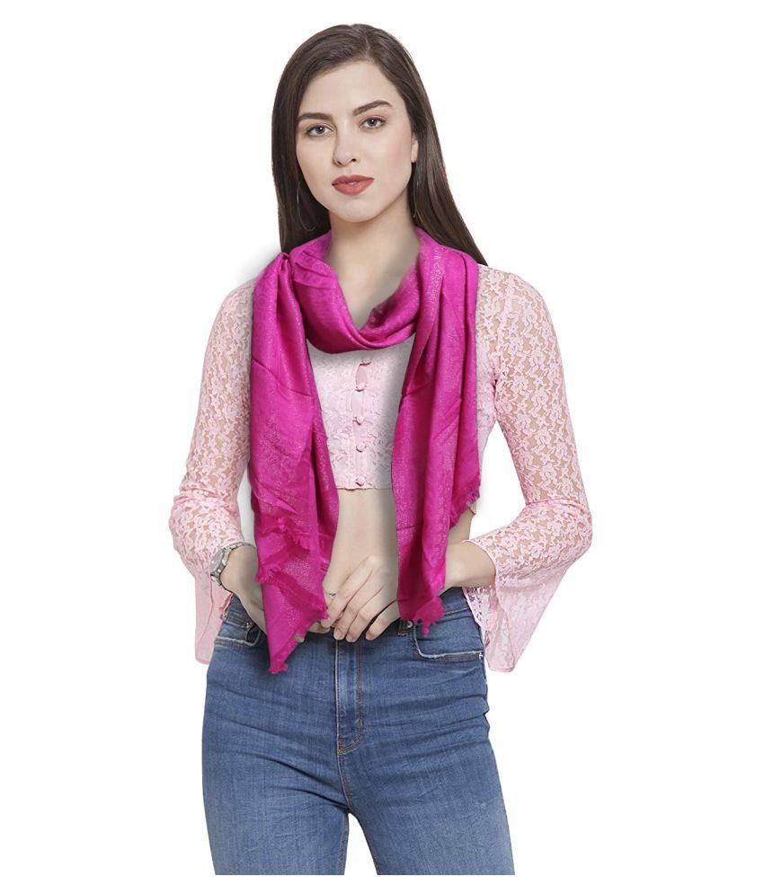 Prague Pink Solid Silk Stoles