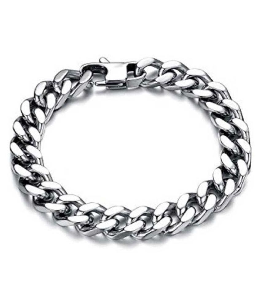 Ratan Bazaar - Silver Chain Bracelet for Men and Women