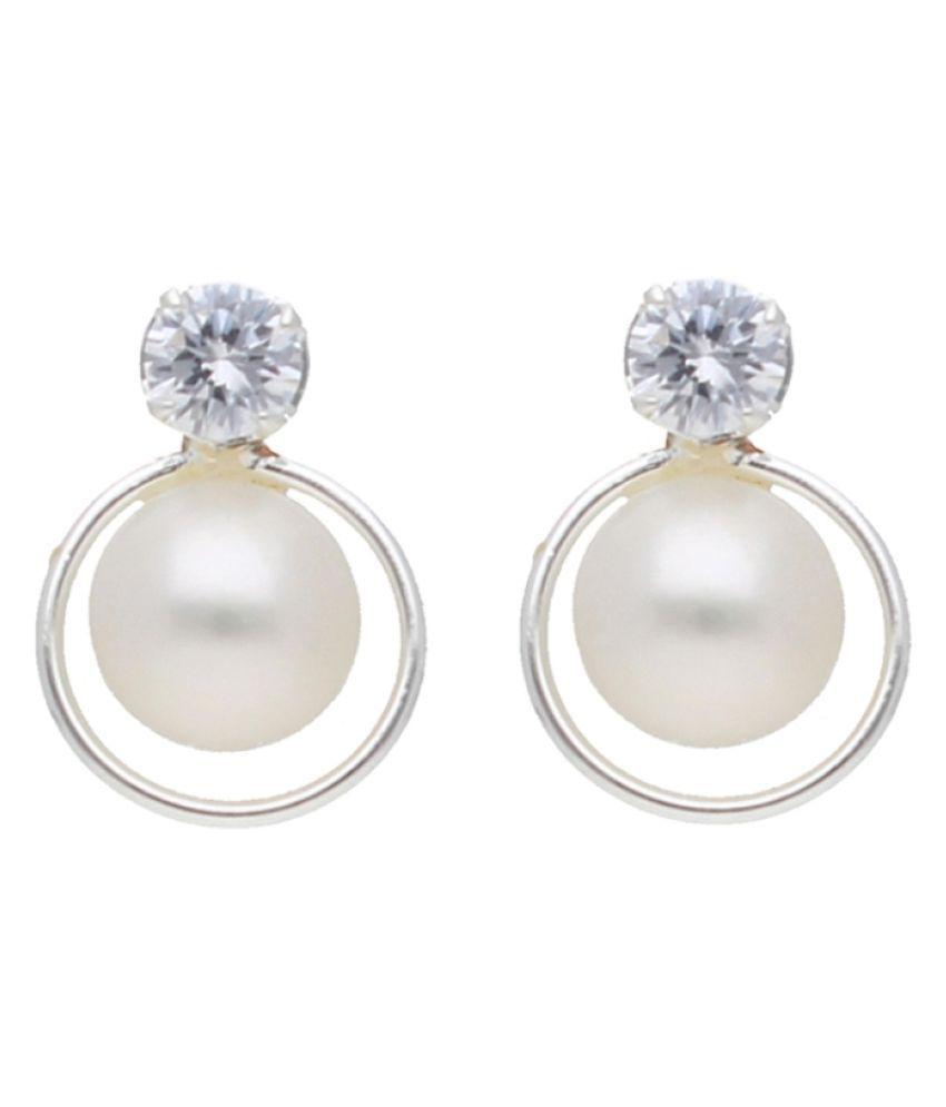 Stylish Aayat Pearl Earrings By KNK Jewellery