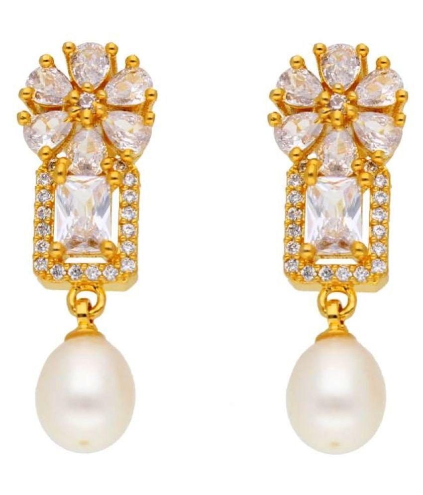 Stylish Babita Pearl Earrings By KNK Jewellery