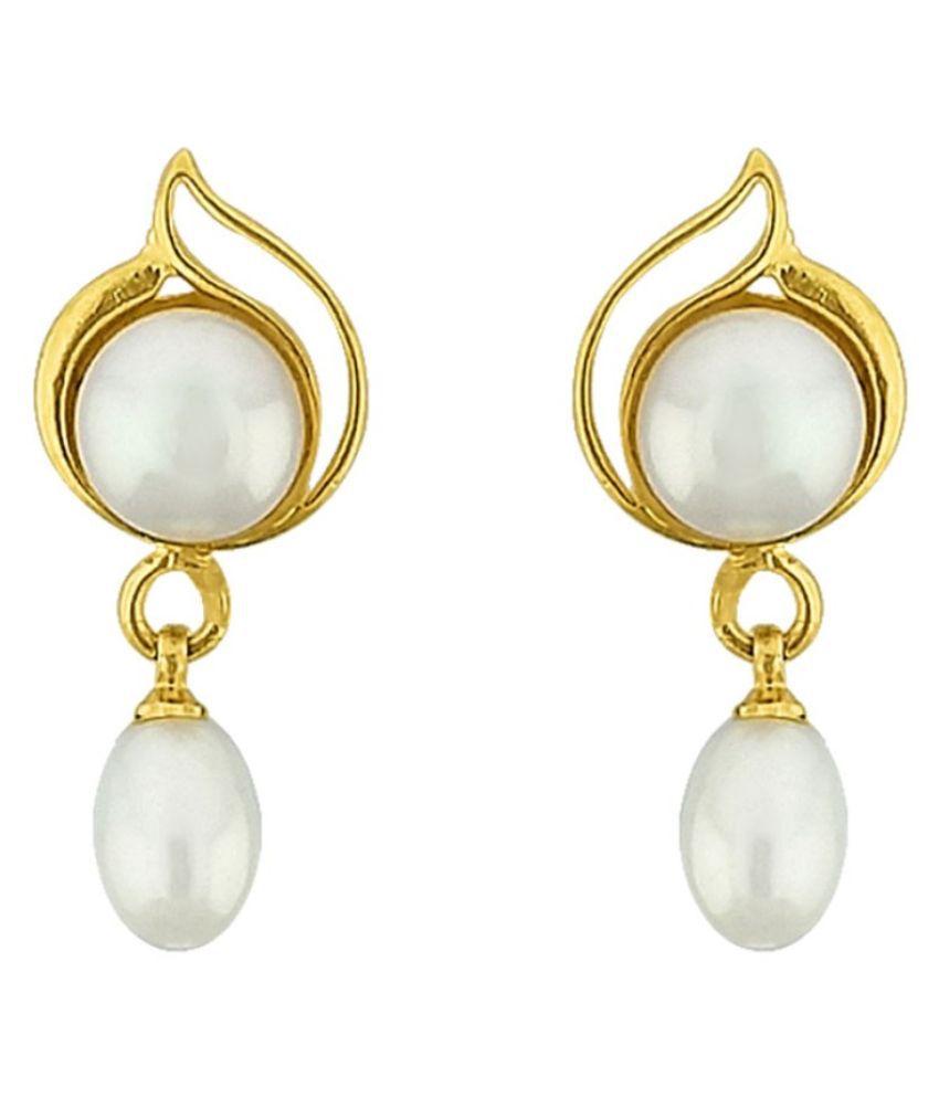 Stylish Lustrous Pearl Earrings By KNK Jewellery