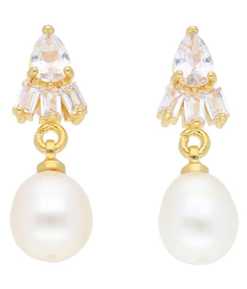 Stylish Rossroyal Pearl Earrings By KNK Jewellery
