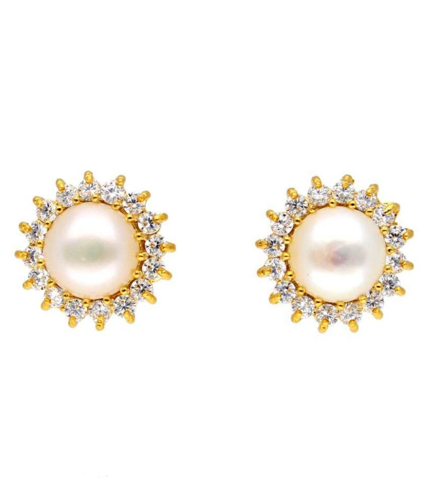 Stylish Rukhiya Pearl Earrings By KNK Jewellery