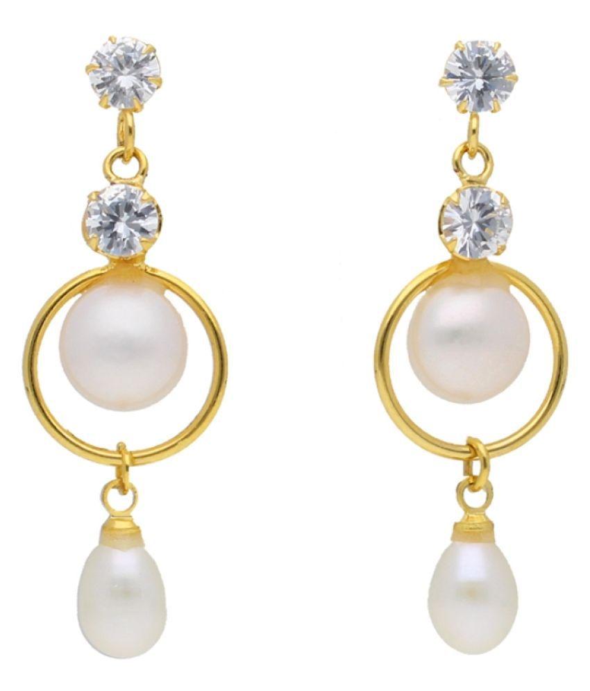 Stylish Tavishi Pearl Drop Earrings By KNK Jewellery