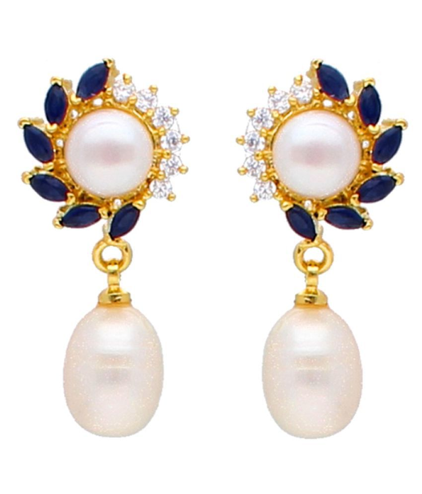 Stylish & Trendy Aleeza Freshwater Pearl Earrings By KNK Jewellery