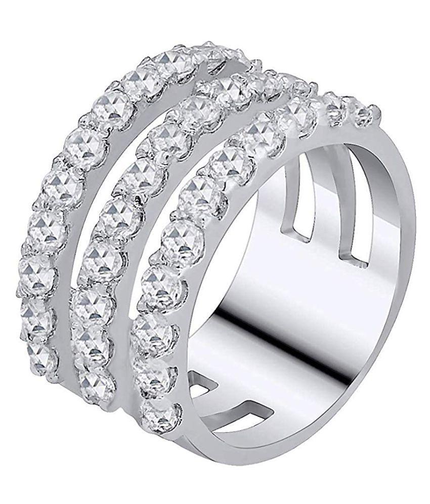 Tiara Ornaments 92.5 Sterling Silver Crystal Band Ring | tiara |