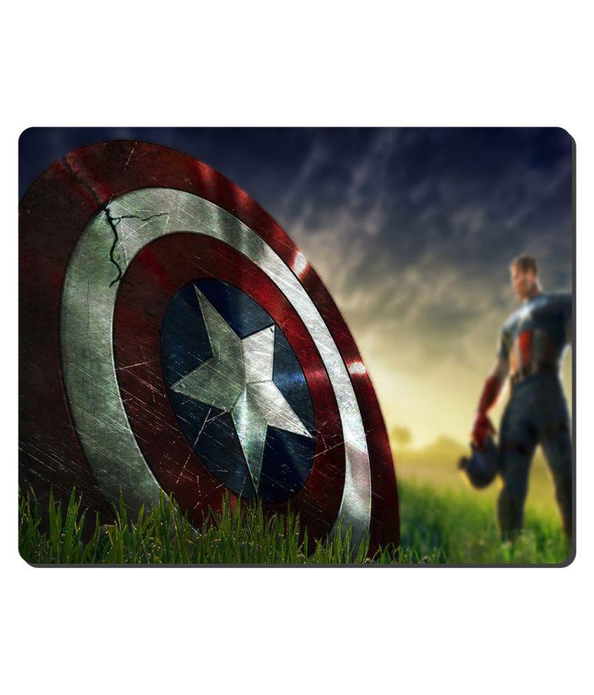 Ryca Marvel Studio Captain America Shield 3D Mouse pad HD Print AntiSkid base High Speed Quality Mousepad