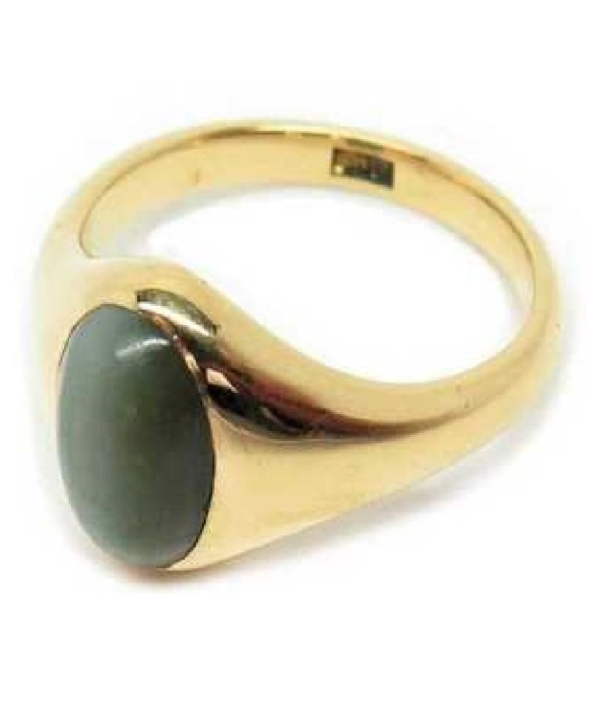 5 Carat Cat's Eye Stone Gold Plated Ring by Ratan Bazaar
