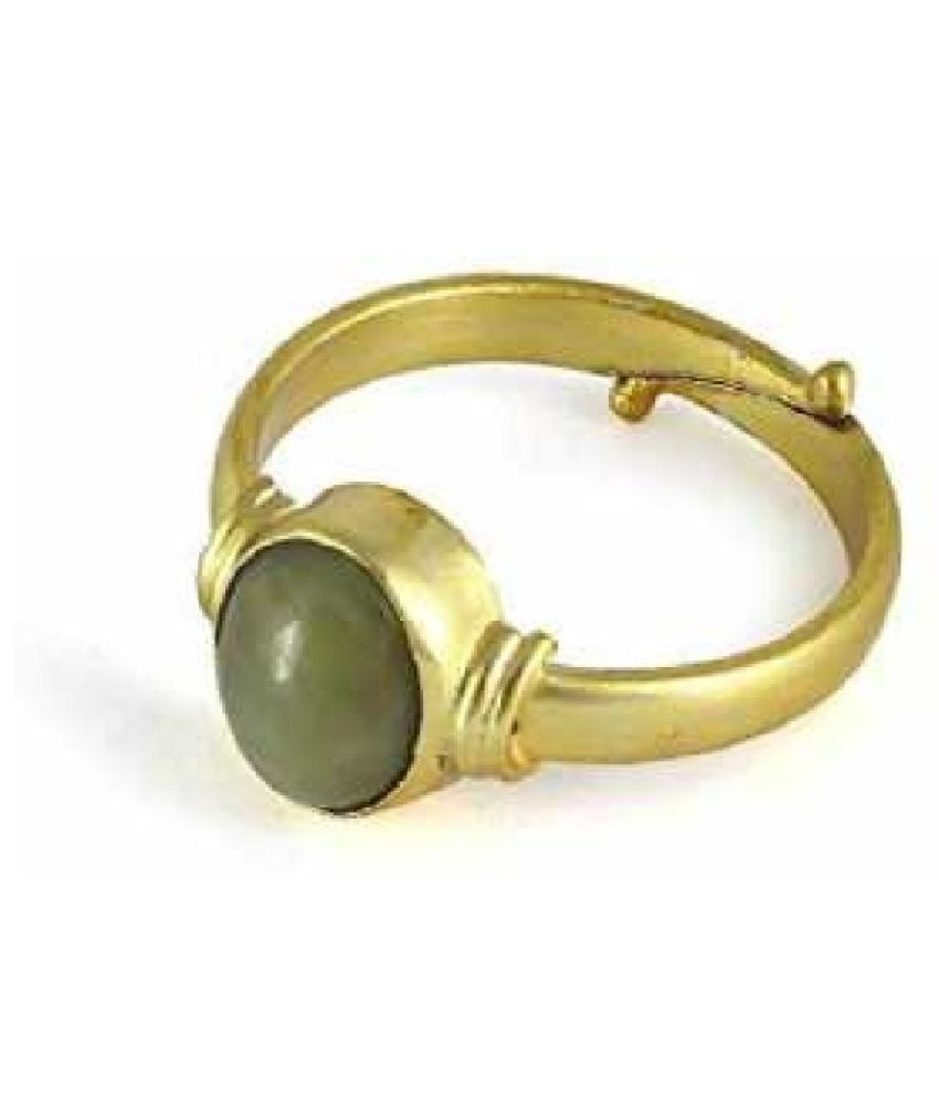 5.5 carat pure Cat's Eye Gold Plated Ring by Ratan Bazaar\n