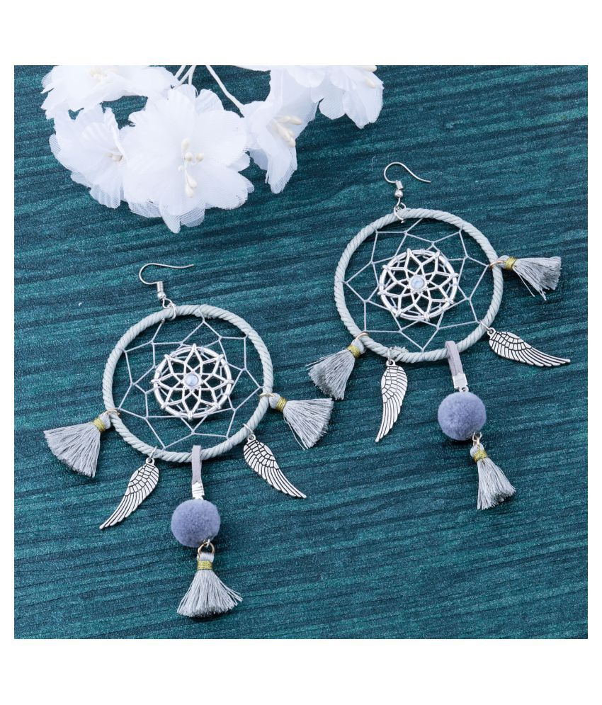 Grey Colour Unique Western Partywear Designer Earring For Girls and Women Jewellery
