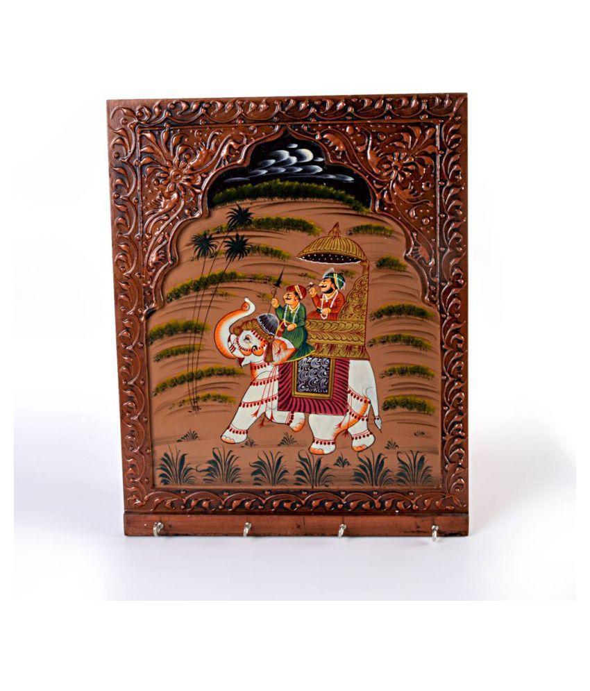 Gunnu Sales Brown Wood Handicraft Showpiece - Pack of 1