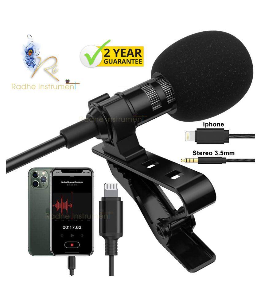 Radhe Instrument iPhone Collar Mic Lapel Microphone