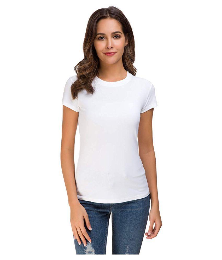 THE BLAZZE Cotton White T-Shirts