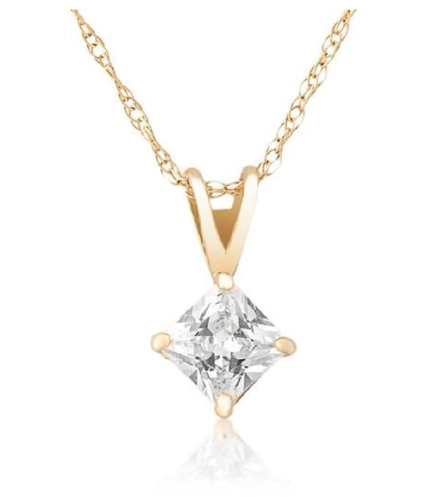 5.25 Ratti Zircon Gold Plated Pendant for unisex by KUNDLI GEMS\n