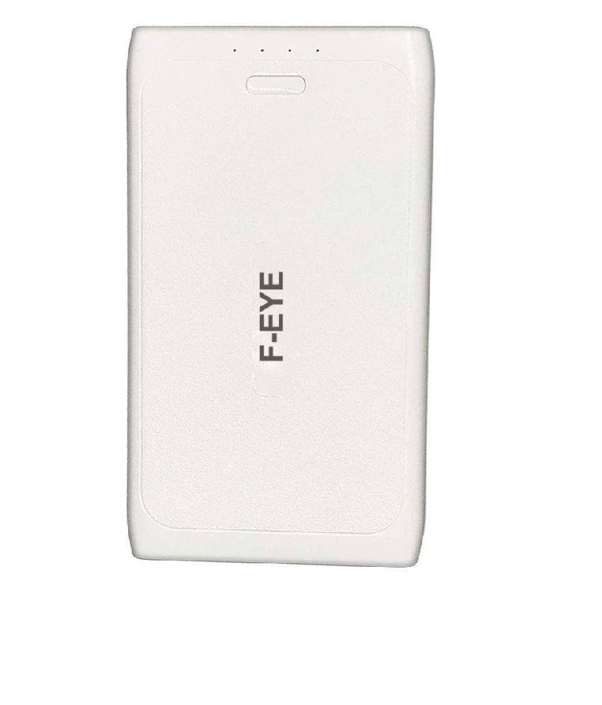 F EYE 12000  mAh Li Polymer Power Bank White