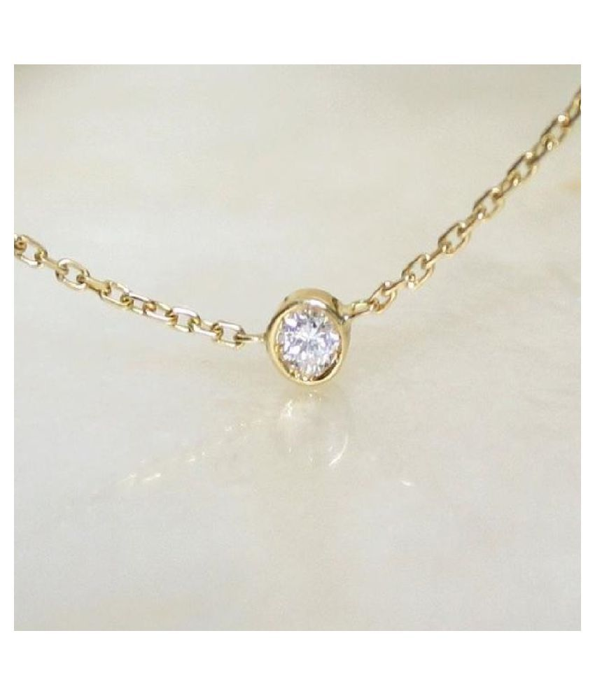 Gold Plated 5.25 Ratti Zircon Pendant for unisex by KUNDLI GEMS\n