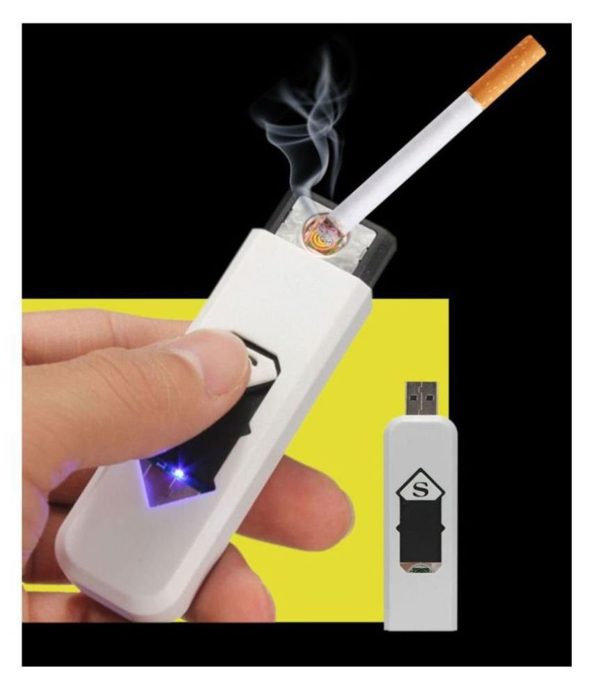 Karoly Electronic USB Rechargeable flameless Cigarette lighter (multicolor)
